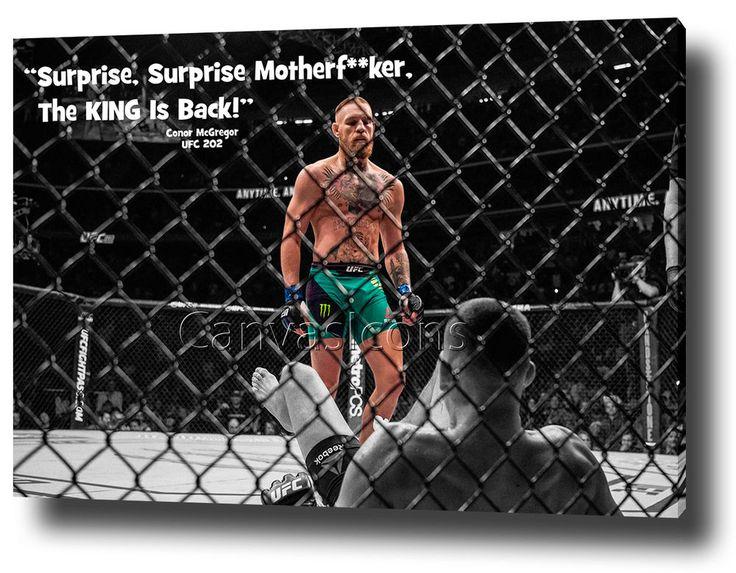 Conor McGregor UFC 202 vs Nate Diaz Wall ART Home Decor Gift for ...