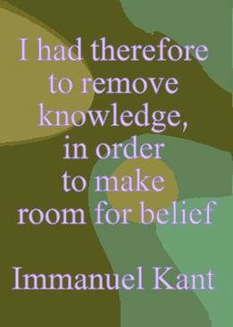 I had therefore to - Immanuel Kant