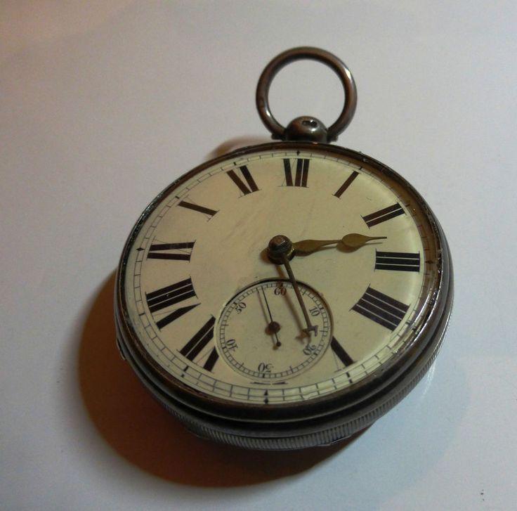 """Antike Taschenuhr - Spitzanker TU - Massiv Silber - Schöne Uhr """"Elias Benjamin"""""""