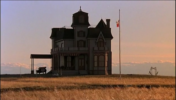 Jack Fisk's plywood house, Days of Heaven 1978 dir. Malick. Art Direction by  Jack FiskSet Decoration by  Robert Gould.