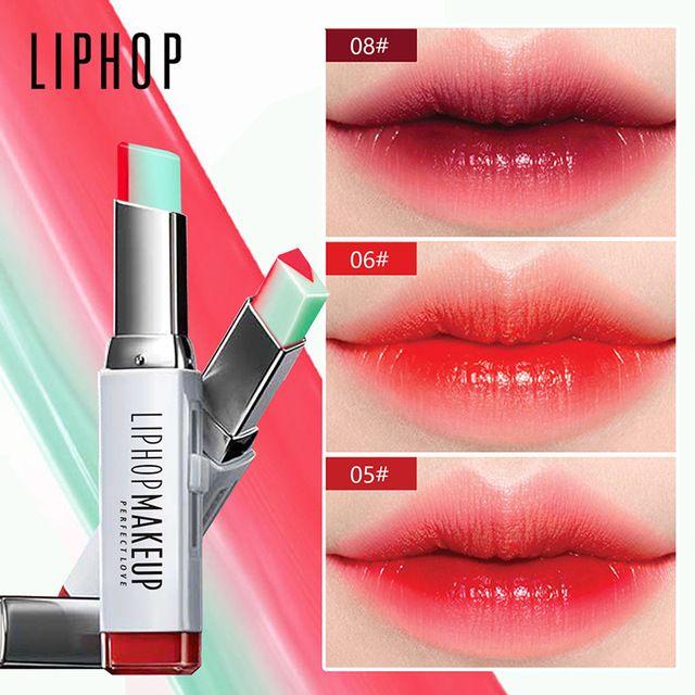 LIPHOP Brand lipstick Moisturizer beauty makeup gradient color ...