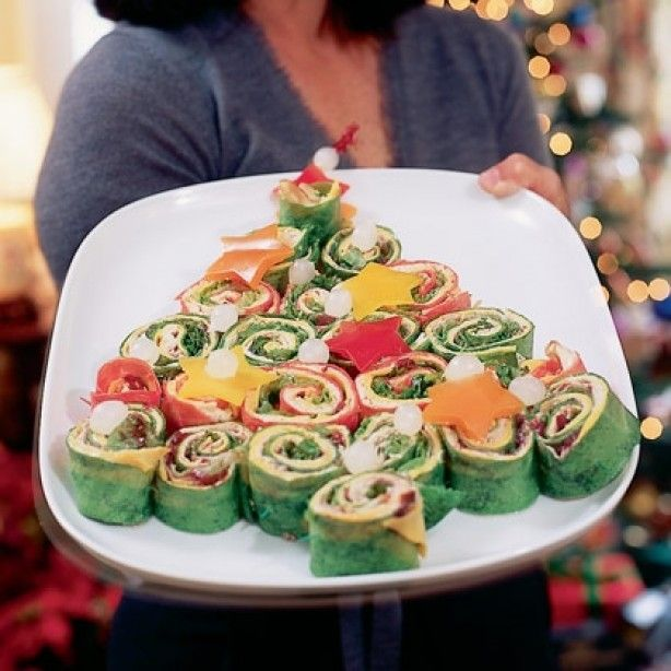 love LOVE love these wrap sandwiches... Such a festive way of display... YUM!