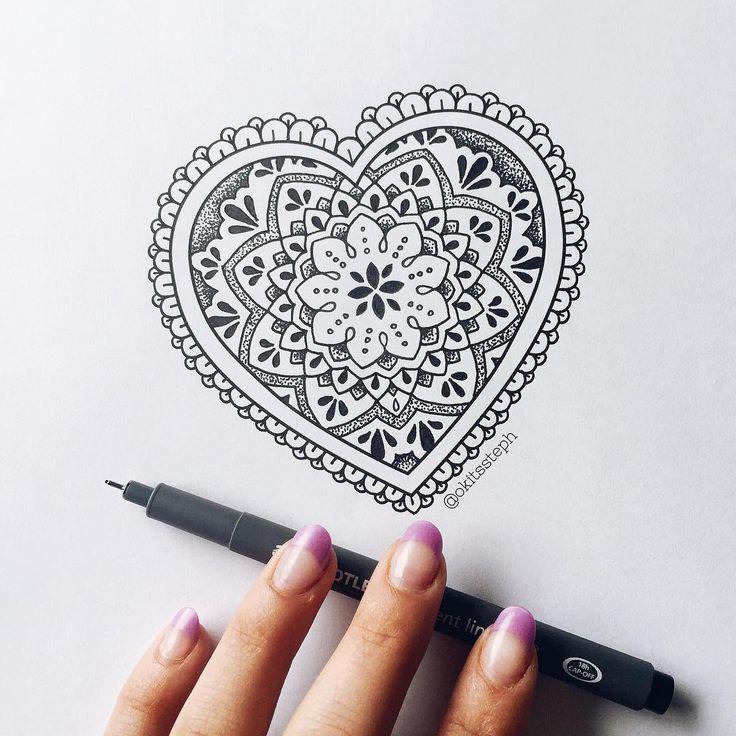 """2,705 Likes, 14 Comments - sтєρн ѕρєєя (@okitssteph) on Instagram: """"Some mandala heart fusion ✨"""""""