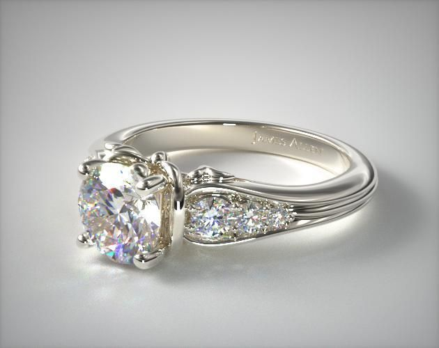 Top 5! Love!  This 18k white gold graduated pave swirl engagement ring is available exclusively from JamesAllen.com