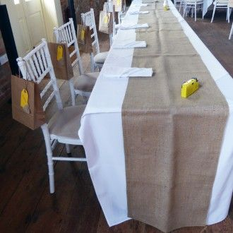 Standard Hessian Table Runners | From Britain with Love
