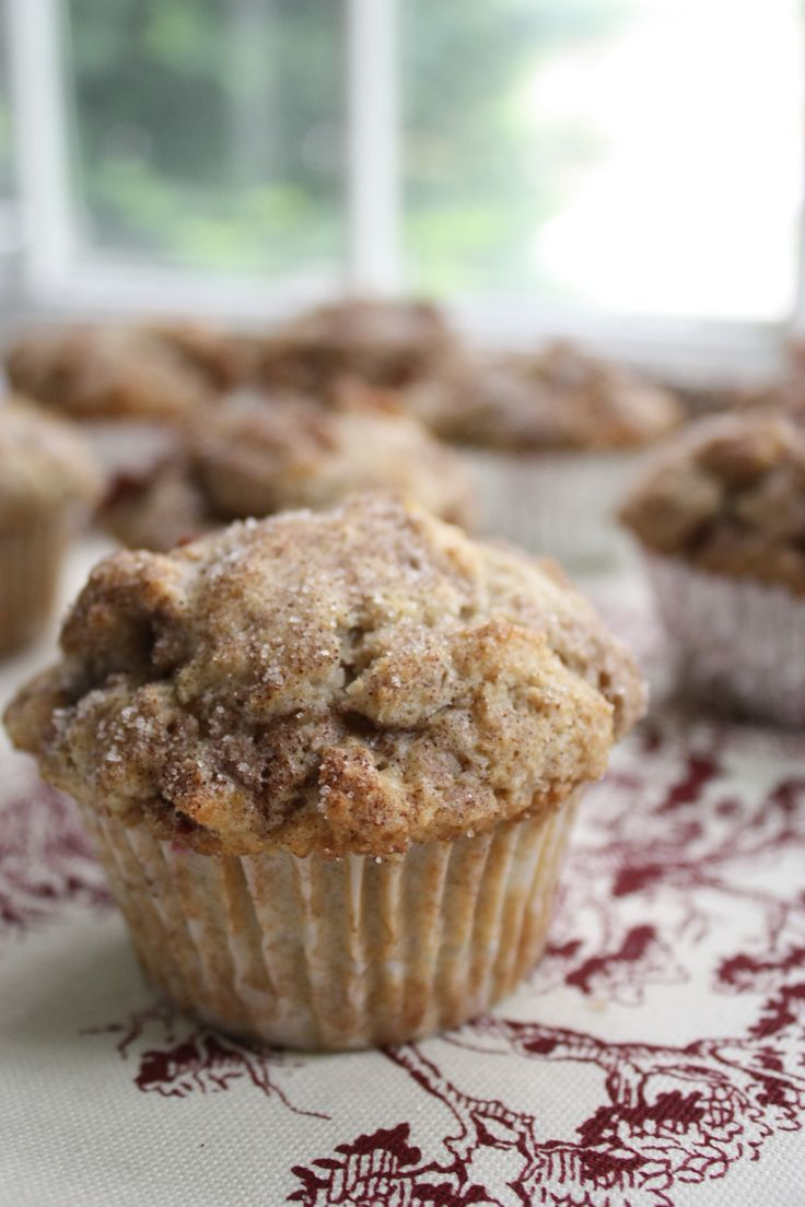 Cinnamon-rhubarb muffins - I just made these and they are delicious