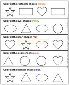shapes1 math worksheets preschool worksheets - Toddler Activities Printables