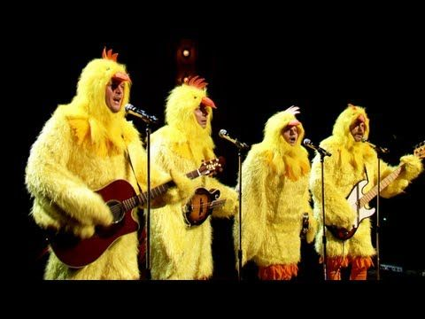 """Four chickens do an all-clucking rendition of The Lumineers' """"Ho Hey.""""    Subscribe NOW to Late Night with Jimmy Fallon: http://full.sc/IcjtXJ    Watch Late Night With Jimmy Fallon Weeknights 1235/11:35c    Get more Jimmy Fallon:   Follow Jimmy: http://Twitter.com/JimmyFallon  Like Jimmy: https://Facebook.com/JimmyFallon    Get more Late Night with Jimmy ..."""