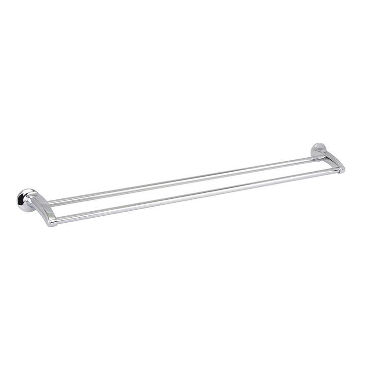Estilo 90cm Chrome Serena Double Towel Rail I/N 4821049 | Bunnings Warehouse
