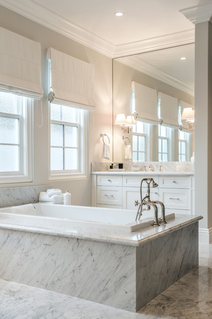 Marmorbad 16 Gorgeous White Marble Bathrooms | Badezimmer, Marmorbad, Weisser Marmor