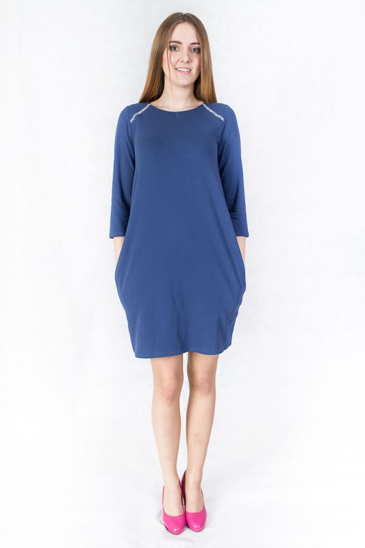 Nice blue jersey dress. Buy it and love it! http://wondersfashion.pl/womans-dress-with-pockets-woman-p-113.html
