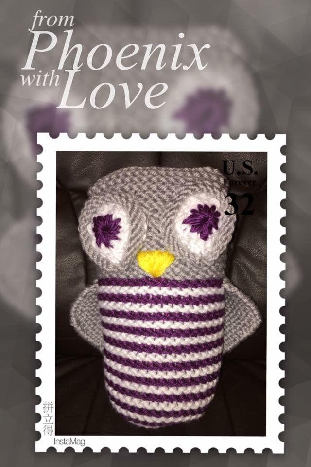 Loomed owl by Layna Georgia