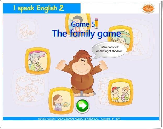 "I speak English 2: ""The family game"" (Inglés de Educación Infantil)"