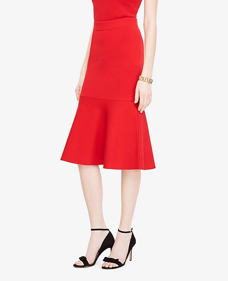 f291f5b16f7 Shop Ann Taylor for effortless style and everyday elegance. Our Petite  Flared Flounce Skirt is the perfect piece to add to your closet.