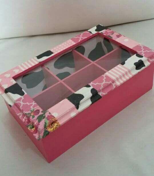 Caja de té vaca y rosa para Mela