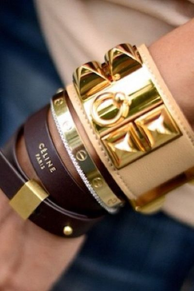 Hermès and Céline Bracelet | The Finer Details  Leather and Cartier