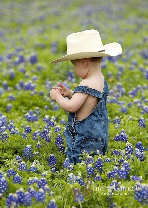 Every Texas child knows he/she must have a photo taken in the bluebonnets each spring. It's how we do it in Texas...