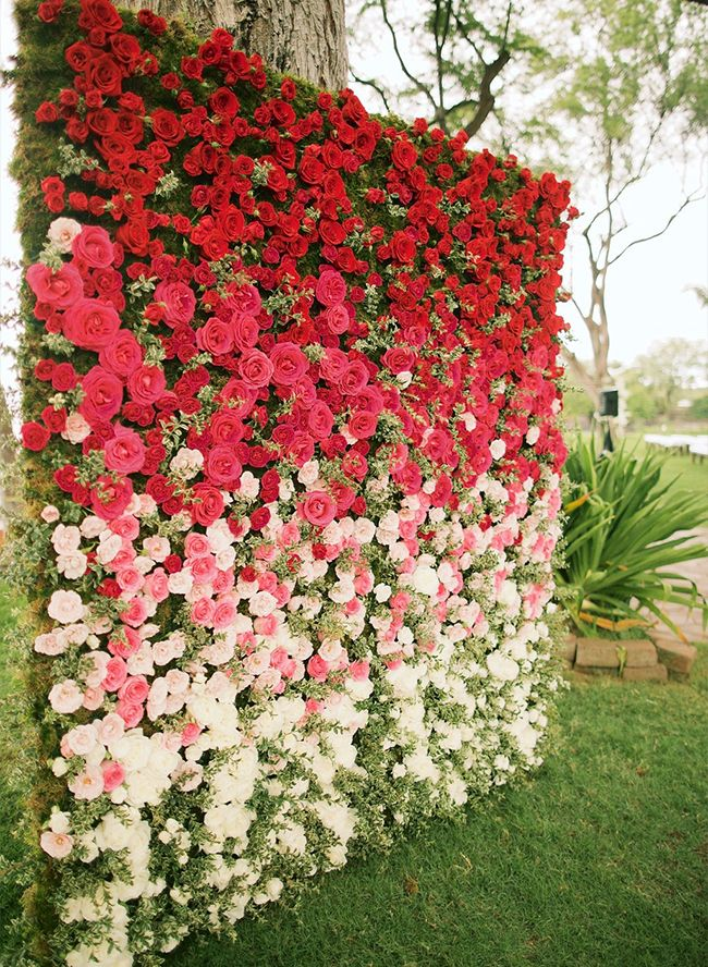 Best 25 rose wall ideas on pinterest room color ideas bedroom ombre wedding decor done the right way junglespirit Images