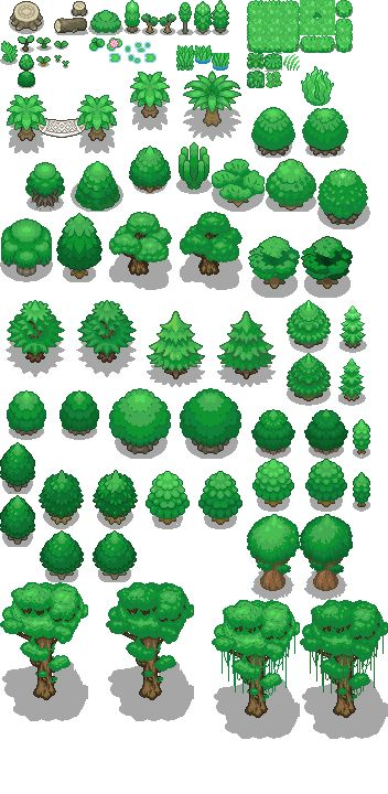 Tons of Tileset 1/10 - Light jungle trees by Phyromatical on DeviantArt