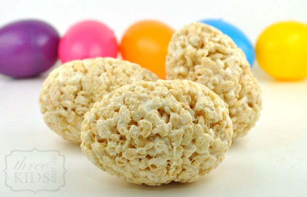 rice krispie shaped easter eggs..so easy!