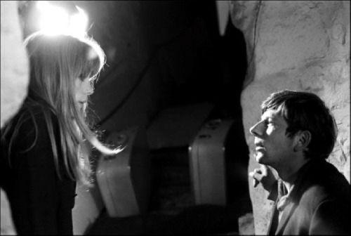 Roman Polanski & Francoise Dorleac set of Cul de sac 1965