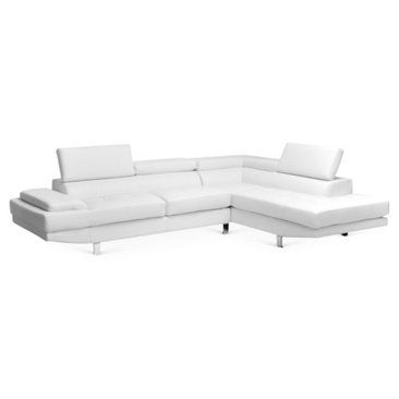 Check out this item at One Kings Lane! Wick Modern Sectional Sofa, White
