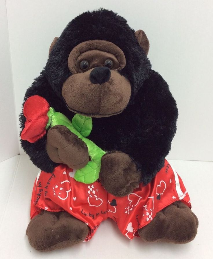 Roses Valentine S Day With Stuff Toys : Best images about valentine gorillas on pinterest