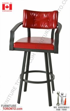 Modern Bar Stool with arms Made in Canada. You can easily mix the large variety of colors and finishes offered.   Barstool #barstools #Bar #Madeincanada