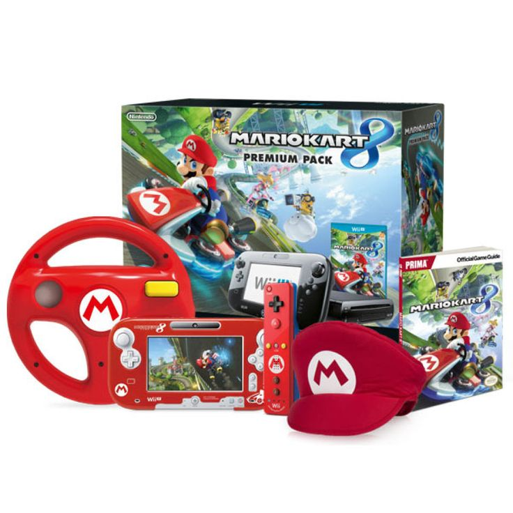 Mario Kart 8 Red Wii U Mario Bundle
