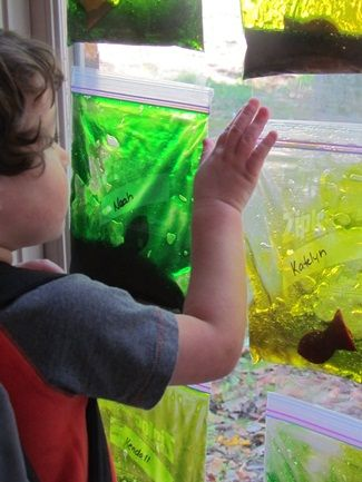 "cute idea! individual aquariums for all of the kiddos to have their own ""pet"""