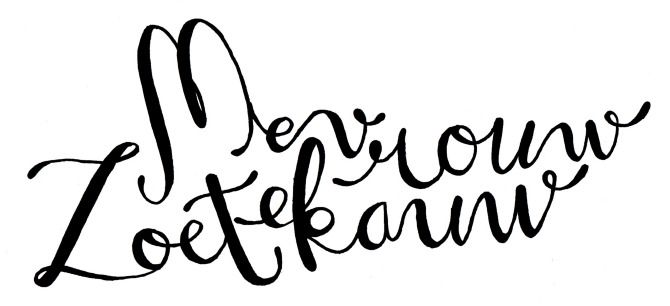 Made by Marianne Lock / Logo for Mevrouw Zoetekauw / Handwritten / Typography