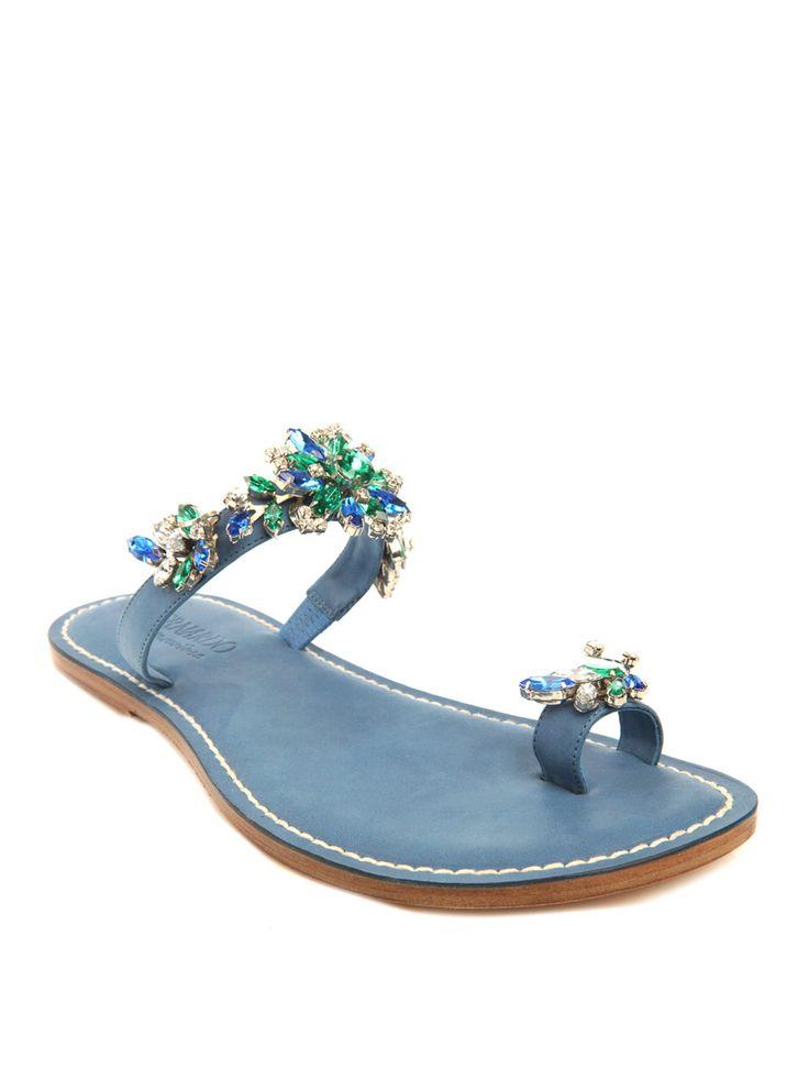 Bernardo Vintage Couture Emilio Pucci crystal sandals