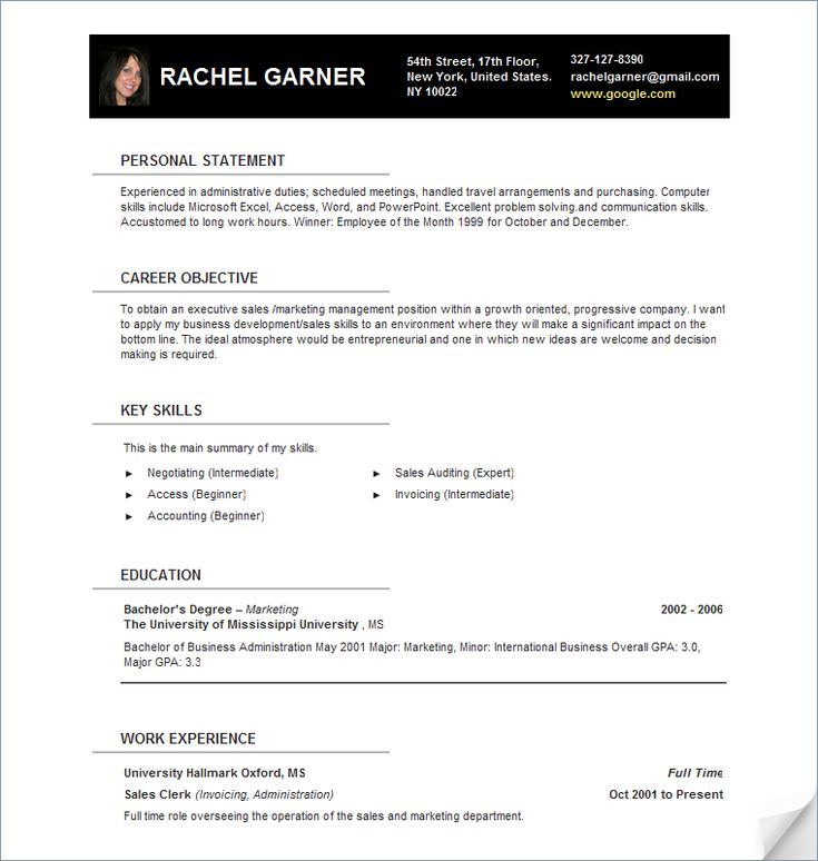 Best Resumes Images On   Resume Examples Resume And