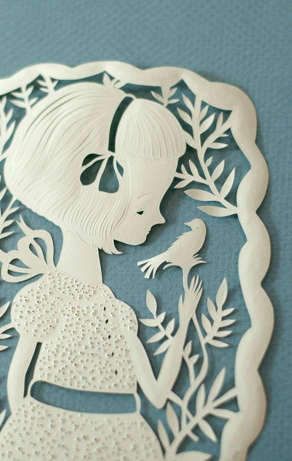 Elsa Mora papercut | paper papercraft paperart