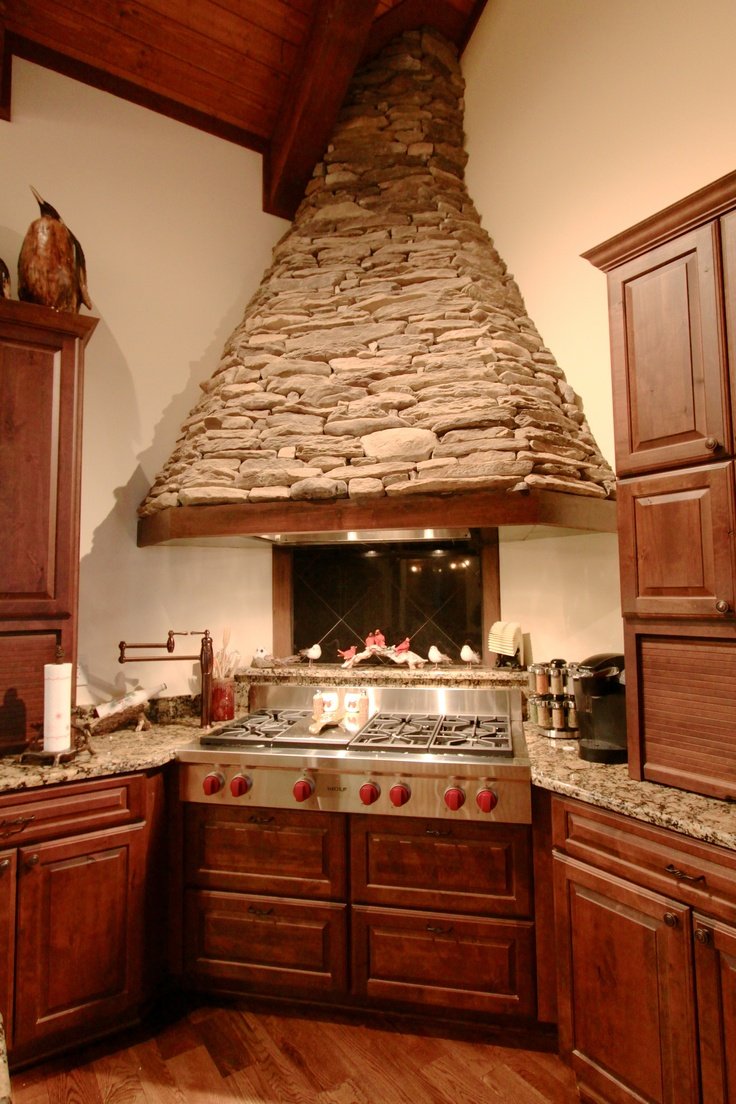 Stacked Stone Range Hood Vpc Builders Vpc Kitchens