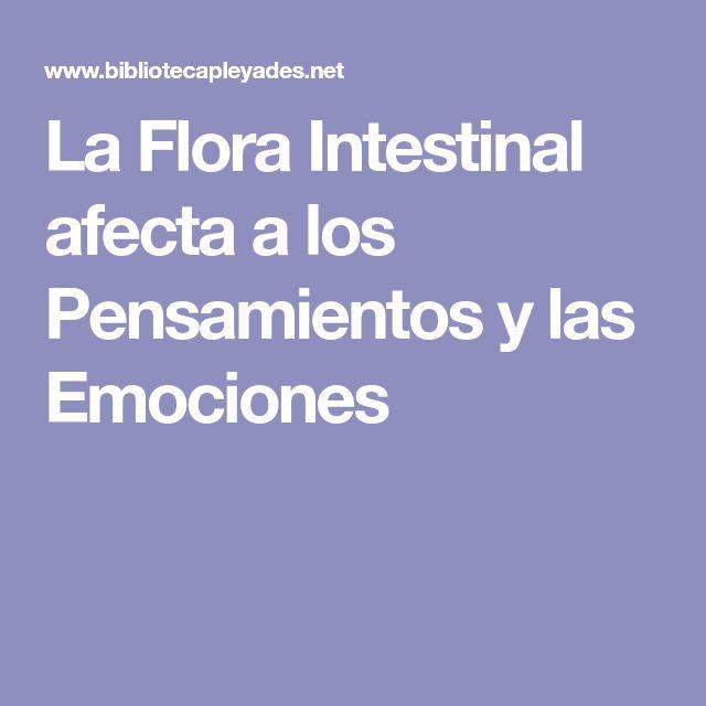 La Flora Intestinal afecta a los Pensamientos y las Emociones