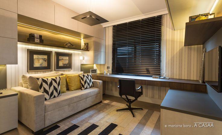 O Home Office S Brio Em Tons De Cinza Escuro Madeira