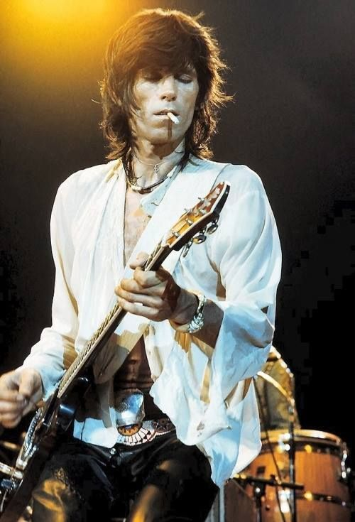"""Keith Richards / 1973  """"And then I think we realized, like any young guys, that blues are not learned in a monastery. You've got to go out there and get your heart broke and then come back and then you can sing the blues."""" ― Keith Richards, Life"""