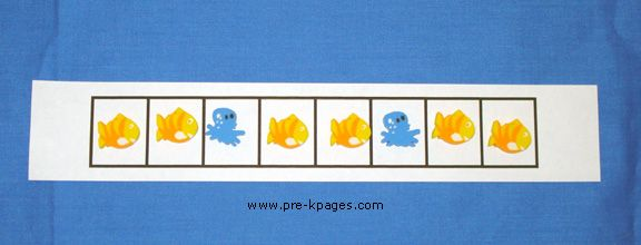 patterns with fish: Ocean Patterns, Student, Small Group, Patterns Templates