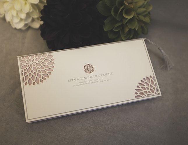 和風の結婚式招待状。手作り招待状