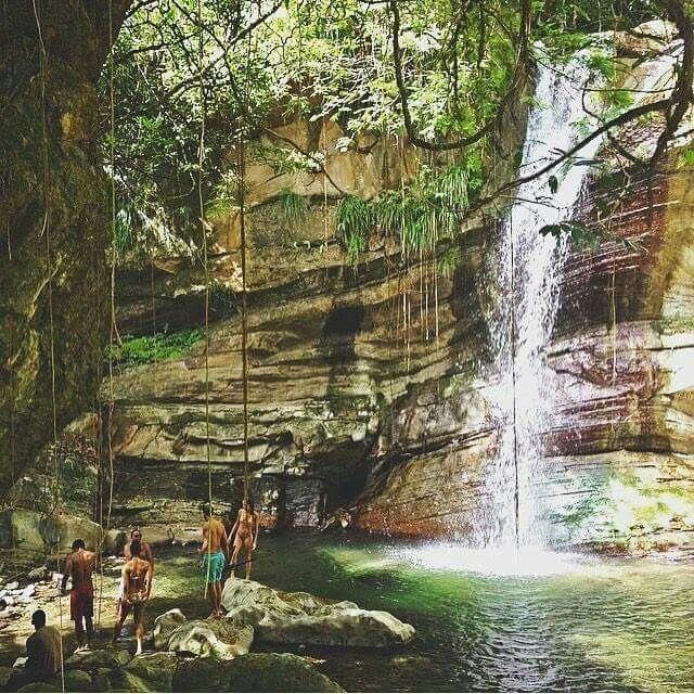 Nanny Falls. Moore Town. Portland Jamaica