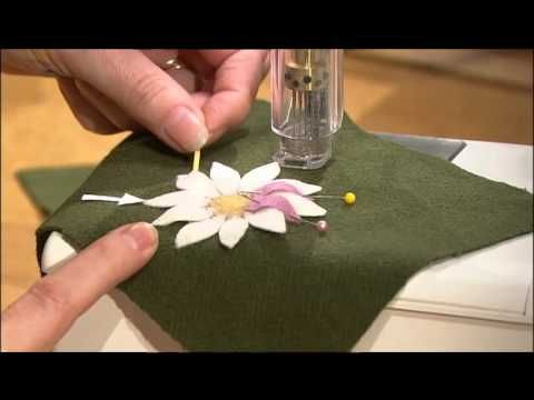 Nancy and Isabella Hoffman show you step-by-step how to use an innovative felting technique to make dimensional blooms. This demonstration will teach you to how to add dimension to your home décor and accents.  http://www.nancysnotions.com/category/video+demos/machine+needle+felting.do?extid=YT02409
