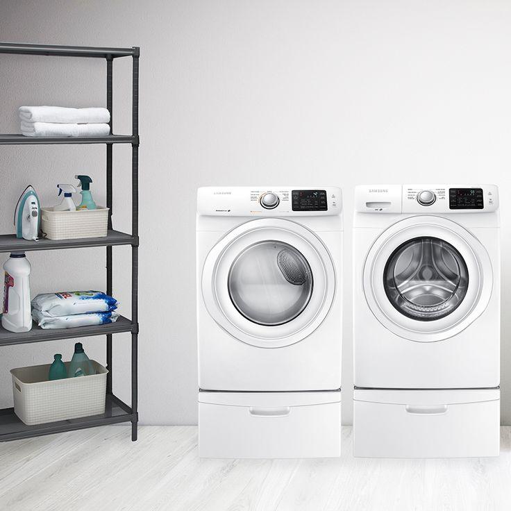 Equipa tu lavandería con un combo de lavadora y secadora marca Samsung. Modelos: 116881 y 116882.