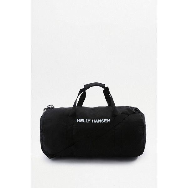 Helly Hansen Medium Packable Holdall Bag (155 BRL) ❤ liked on Polyvore featuring men's fashion, men's bags, black, mens holdall bag and mens canvas bag