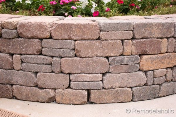 Diy Rumblestone Seat Wall And Fire Pit Kit Installation Fire Pits Stone Walls And Love The