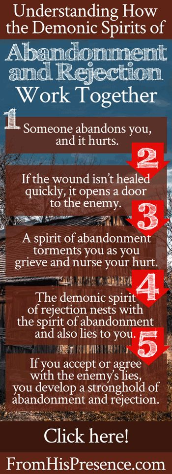 How the demonic spirits of abandonment and rejection work together