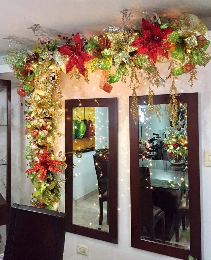 M s de 25 ideas incre bles sobre coronas navide as en - Ideas adornos navidenos ...