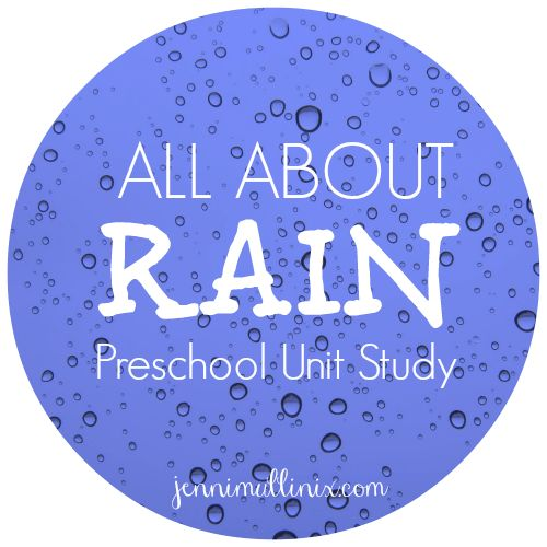 Preschool Activities and Books about Rain