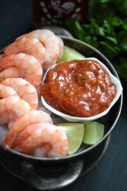 Shrimp Cocktail with Sriracha Lime Cocktail Sauce