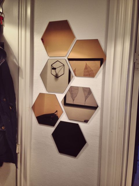 Ikea hönefoss, hexagon, cupper, mirror